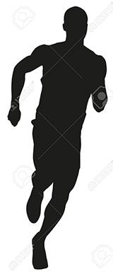 Run. Vector silhouette